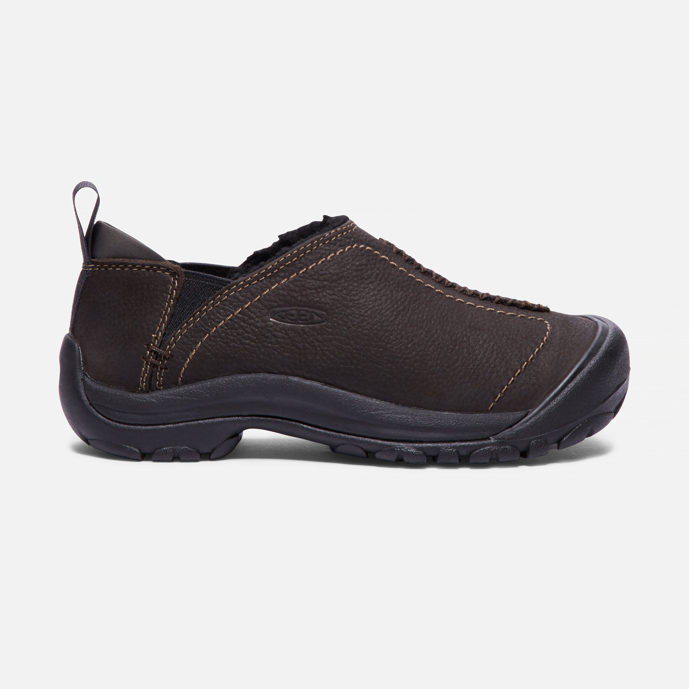 leather slip on shoes women