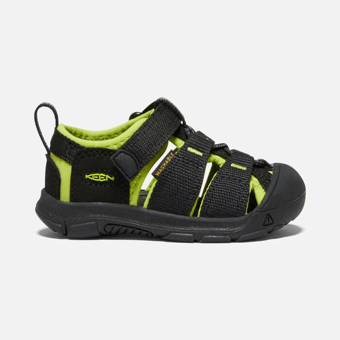 Toddlers' Newport H2 in BLACK/LIME GREEN - large view.