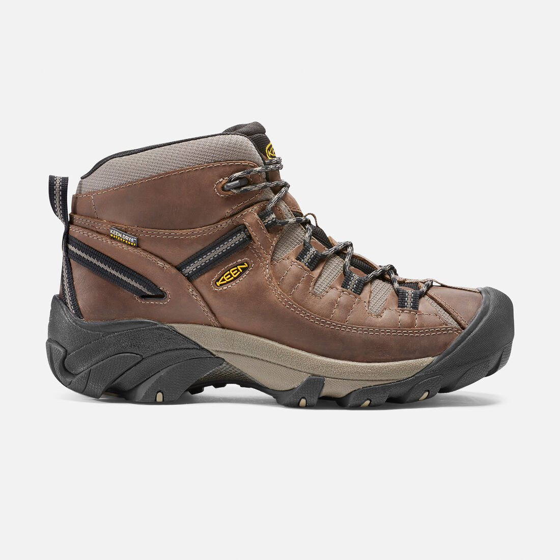 MEN'S TARGHEE II WATERPROOF  MID HIKING BOOTS in Shitake/Brindle - large view.