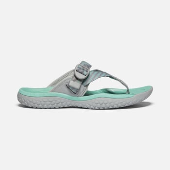 Women's SOLR Toe Post Sandals in Light Gray/Ocean Wave - large view.