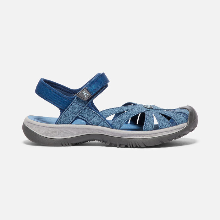 Women's Rose Sandal in BLUE OPAL/PROVINCIAL BLUE - large view.