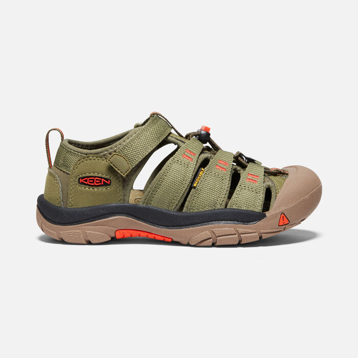 Older Kids' Newport H2 in Olive Drab/Orange - large view.