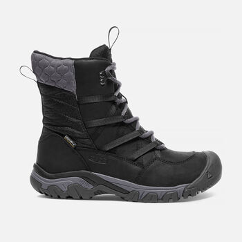Women's Hoodoo III Lace Up Winter Boots in Black/Magnet - large view.