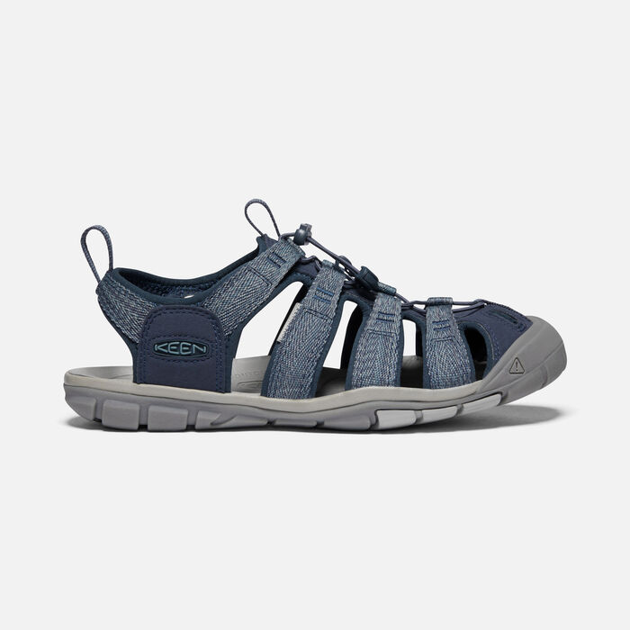Men's Clearwater Cnx Sandals in Blue/Steel Grey - large view.