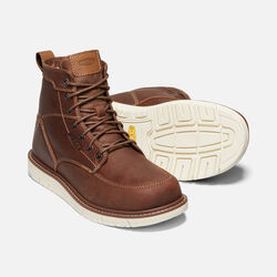 "Men's San Jose 6"" Boot (Soft Toe) in GINGERBREAD/OFF WHITE - small view."
