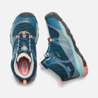 OLDER KIDS' TERRADORA WATERPROOF MID HIKING BOOTS in AQUA SEA/CORAL - small view.