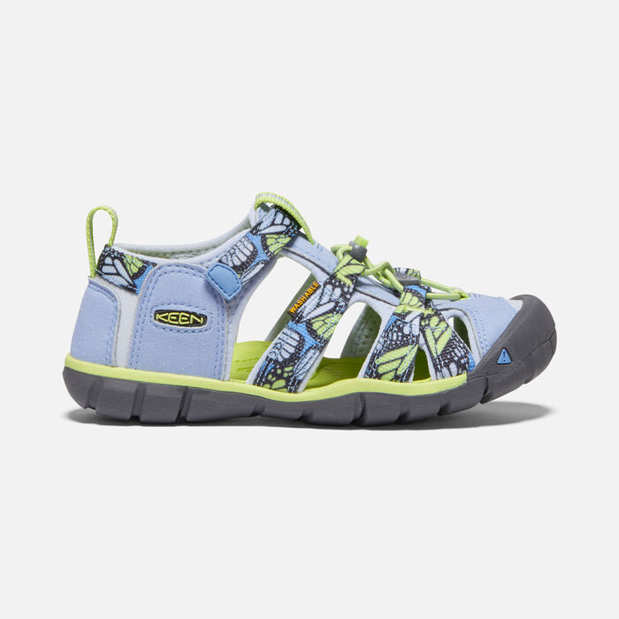 Older Kids' Seacamp II Cnx Sandals in Hydrangea/Sharp Green - large view.