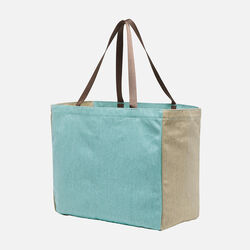 Harvest Tote II (Canvas) in Nile Blue/Black - small view.