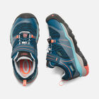 TERRADORA WATERPROOF LOW CHAUSSURE DE RANDONNÉE POUR ENFANTS in AQUA SEA/CORAL - small view.