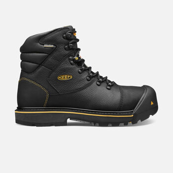 Men's CSA Fort Mac Waterproof Boot (Steel Toe) in Black - large view.