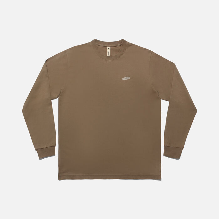 KEEN C&B ロゴ L/S Tシャツ in Plaza Taupe/Birch - large view.