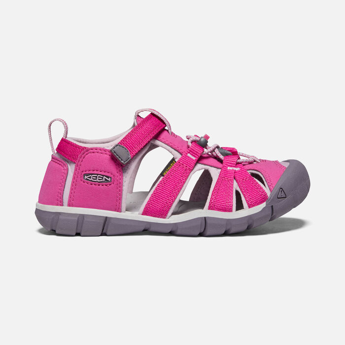 Younger Kids' Seacamp II Cnx Sandals in Very Berry/Dawn Pink - large view.