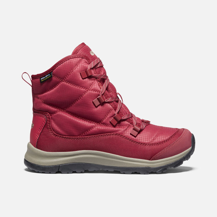Women's Terradora II Winter Waterproof Boot in Tibetan Red/Brindle - large view.
