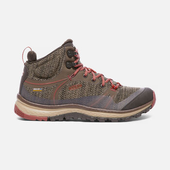 Women's Terradora Waterproof Mid Hiking Boots in CANTEEN/MARSALA - large view.