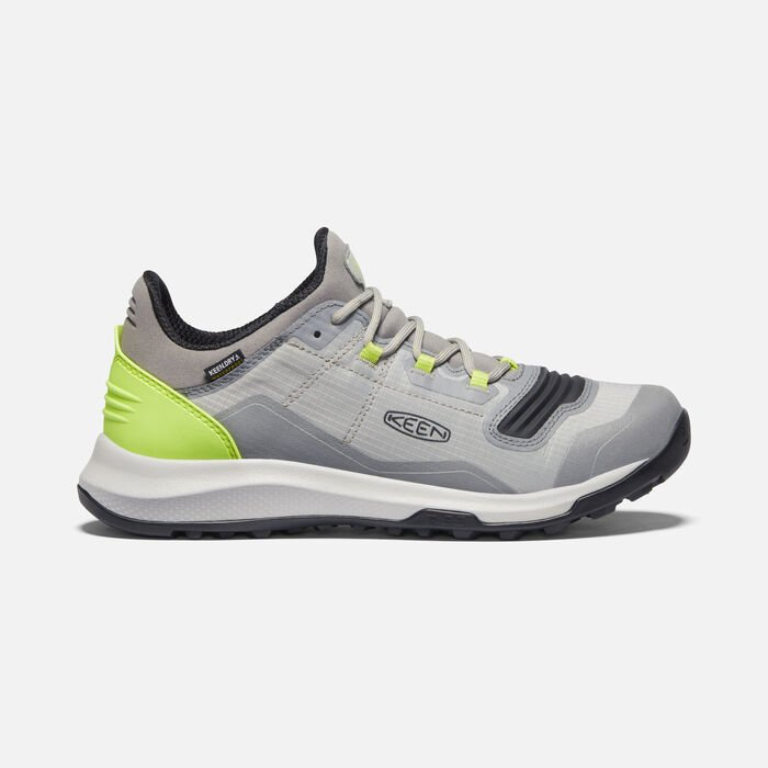 Women's Tempo Flex Waterproof Trainers in Drizzle/Sharp Green - large view.