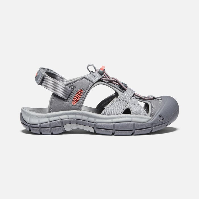 Women's Ravine H2 Sandal in Steel Grey/Coral - large view.