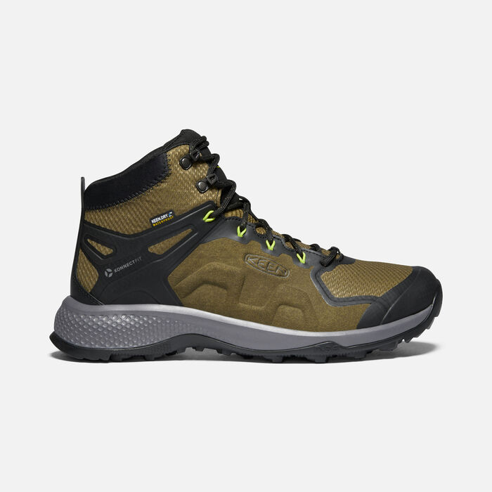 EXPLORE WATERPROOF BOOT POUR HOMME in Dark Olive/Army - large view.