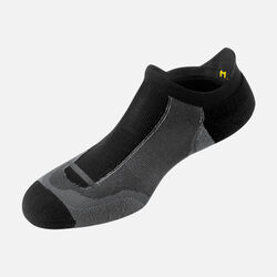 Springbok Ultralite No Show Tab pour homme in Black/Gray - small view.