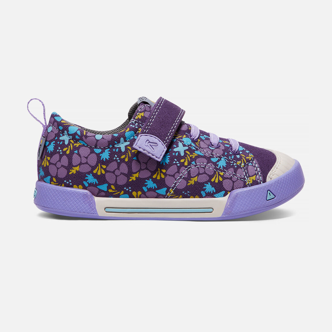 Little Kids' ENCANTO FINLEY LOW in Purple Plumeria/Lavender - large view.