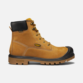 "Men's BALTIMORE 6"" Waterproof Boot (Steel Toe) in Wheat - large view."