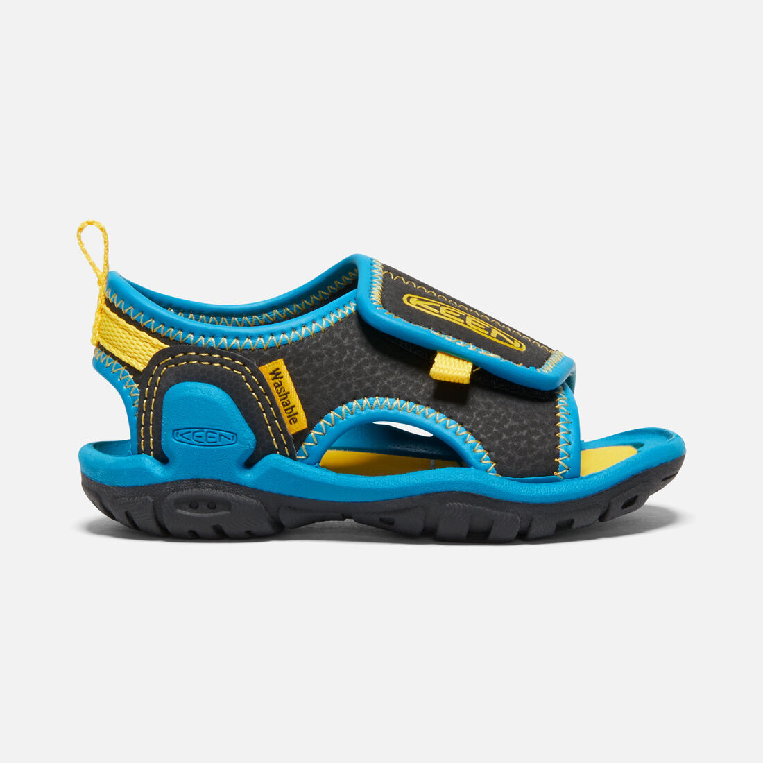 Toddlers' Knotch River Open-Toe Sandal in Black/Vivid Blue - large view.