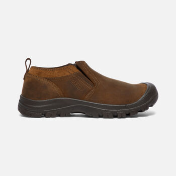GRAYSON SLIP-ON CHAUSSURE POUR HOMMES in Mid Brown/Scylum Full-Grain - large view.