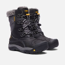 YOUNGER KIDS' BASIN WATERPROOF WINTER BOOTS in Black/Gargoyle - small view.