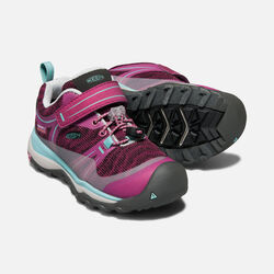YOUNGER KIDS' TERRADORA WATERPROOF LOW HIKING SHOES in BOYSENBERRY/RED VIOLET - small view.