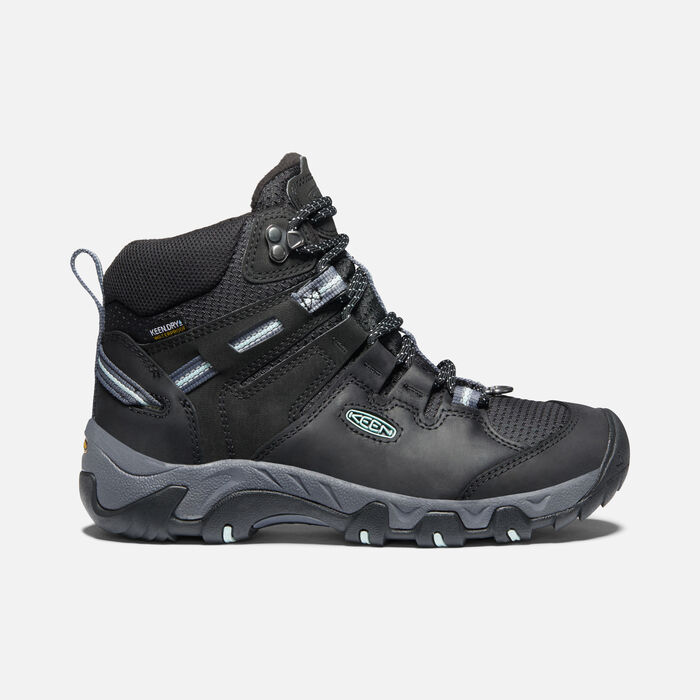 Women's Steens Polar Boot in Black/Harbor Gray - large view.