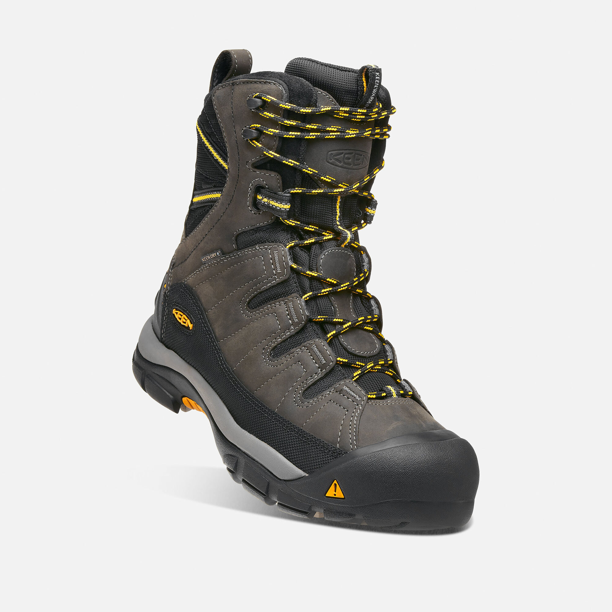 44a62150878 Men's Summit County Waterproof Boot in Dark Shadow/Yellow - small view.