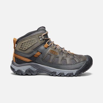 Men's Targhee Vent Mid Hiking Boots in RAVEN/BRONZE BROWN - large view.
