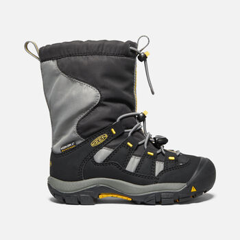 Younger Kids' Winterport Waterproof Boots in BLACK/GARGOYLE - large view.