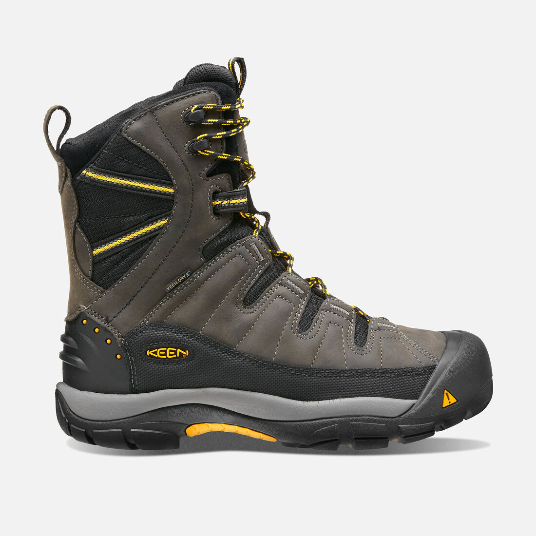 Men's Summit County Waterproof Boot in Dark Shadow/Yellow - large view.