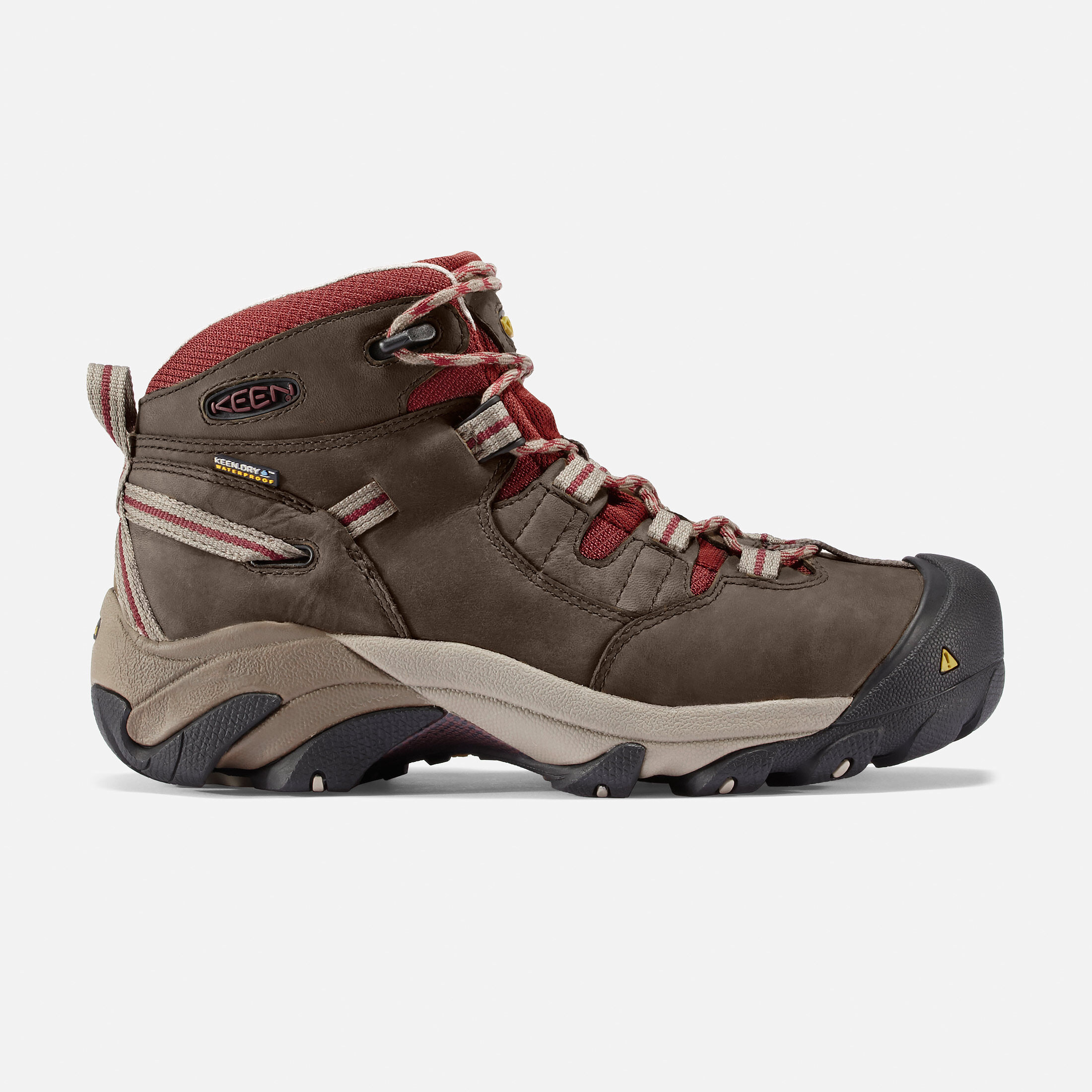 Keen Utility Shoes Keen Utility Detroit Mid Steel Toe Mens Boots Brown/Blue