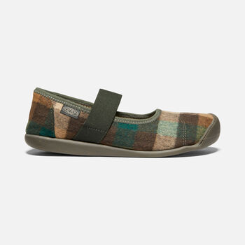 WOMEN'S SIENNA MARY JANE PLAID in BROWN/CLIMBING IVY - large view.