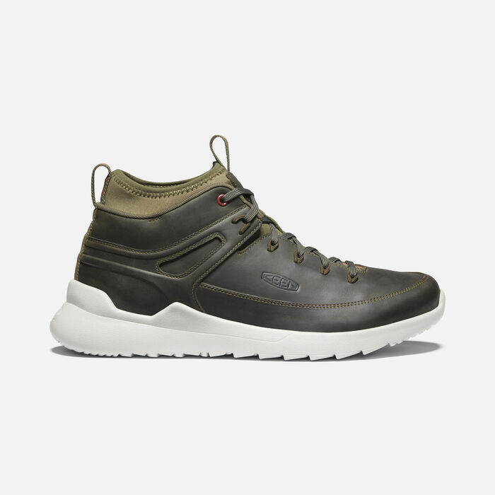 Men's Highland Mid Casual Trainers in Green Lake/Silver Birch - large view.