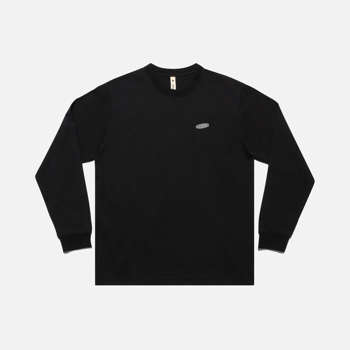 KEEN C&B ロゴ L/S Tシャツ in Black/Magnet - large view.