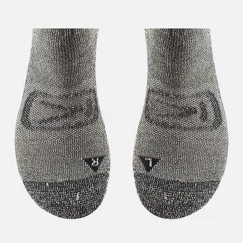 Men's Targhee Lite Crew Hiking Socks in Black / Black - large view.