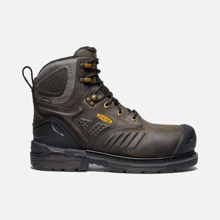 "Men's Philadelphia 6"" Waterproof Boot (Carbon-Fiber Toe) in CASCADE BROWN/BLACK - large view."