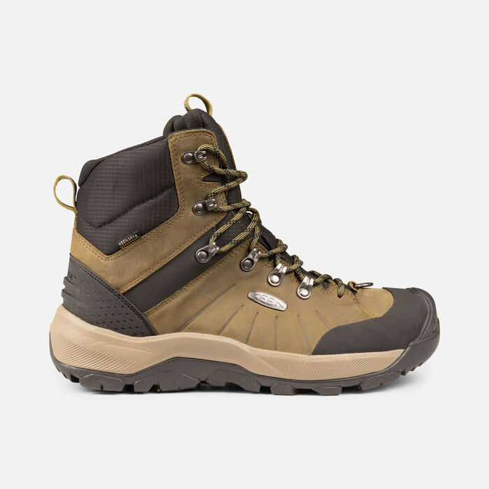 Men's Revel IV Mid Polar Winter Boots in Dark Olive/Black - large view.