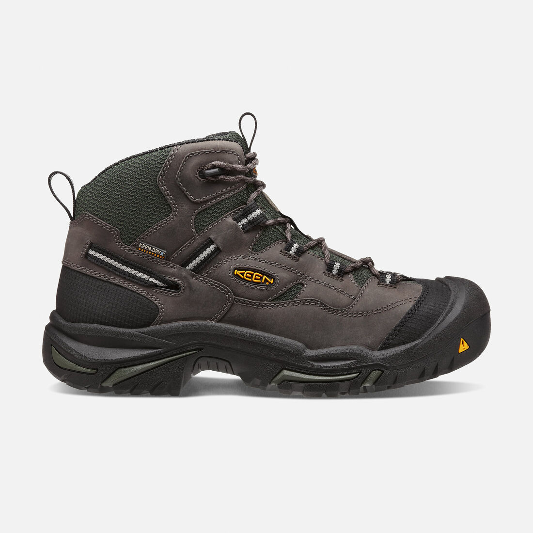 Men's Braddock Waterproof Mid (Steel Toe) in Gargoyle/Forest  Night - large view.