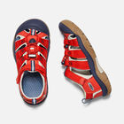 Big Kids' Newport H2 in Fiery Red/Blue Depths - small view.