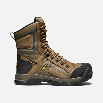 "Men's CSA DAVENPORT 8"" Insulated Waterproof Boot in DARK EARTH/INCA GOLD - large view."