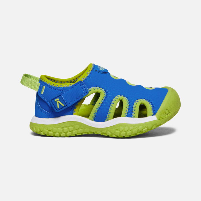 Toddlers' Stingray Sandal in Brilliant Blue/Chartreuse - large view.