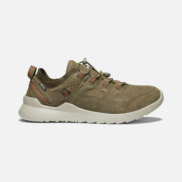 Men's Highland Waterproof Casual Trainers in Dark Olive/Silver Birch - large view.