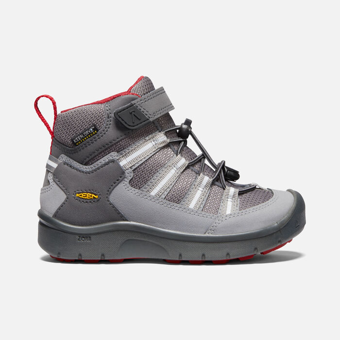 Little Kids' Hikeport II Sport Waterproof Boot in Magnet/Chili pepper - large view.
