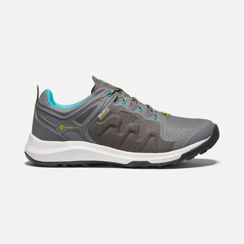 Women's Explore Waterproof Hiking Shoes in STEEL GREY/BRIGHT TURQUOISE - large view.