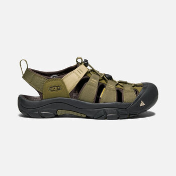 MEN'S NEWPORT HYDRO SANDALS in DARK OLIVE/ANTIQUE BRONZE - large view.