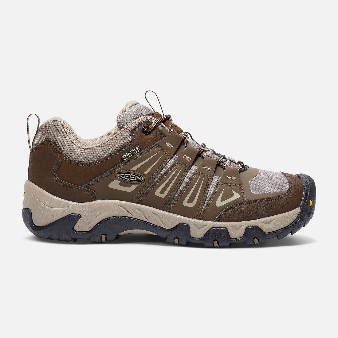MEN'S OAKRIDGE WATERPROOF HIKING SHOES in Cascade Brown/Brindle - large view.