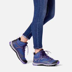 WOMEN'S TERRADORA WATERPROOF MID HIKING BOOTS in  - on-body view.